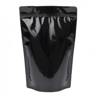 1kg Black Stand Up Pouch