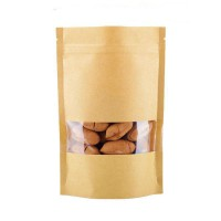 70g Window Kraft Paper Stand up Pouch